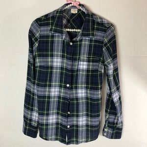 J. Crew Factory Tops - J.Crew Factory Perfect Plaid Button Down Shirt
